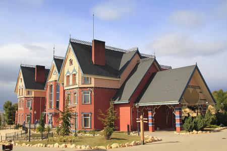 Maison en bois extérieur, thématisé en bois