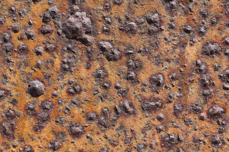 Old corroded iron, full of oxide Stock Photo