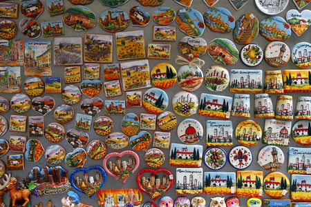 Touristic magnets for a gift