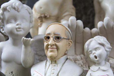 Souvenir of Pope Francis and angels