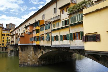 City view of Firenze, the  ponte vecchio  in the river Arno Stock Photo