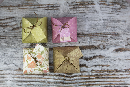 Handmade gift boxes, in paper