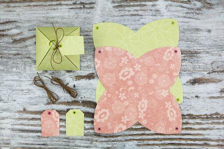 Handmade gift box, in paper photo
