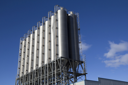 chemical  industry: Industrial silos in the chemical industry
