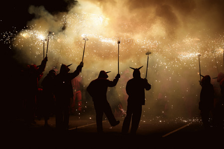 Dancing with fire, traditional festival