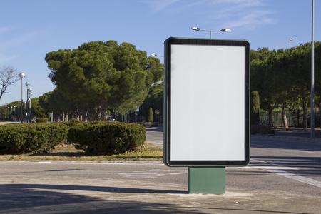 Blank billboard outdoors, in a public zone photo