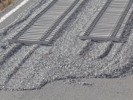 Railroad in construction