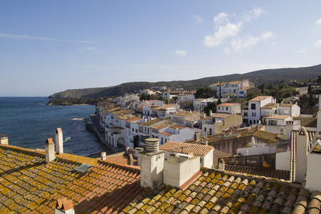 Cadaques view, in the Mediterranian coast of Catalonia, Spain photo