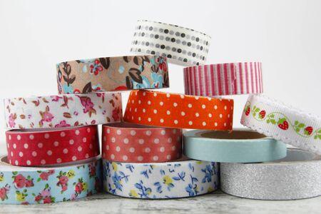 Washi tape rolls for handcrafts