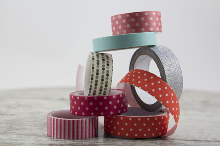 Washi tape rolls for handcrafts