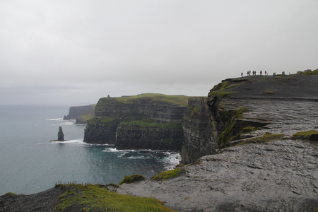 moher: Cliffs of moher in Ireland, a tourist landmark