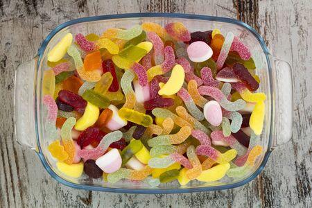 甘いキャンディー ガラス トレイ