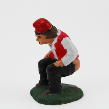 defecating: The caganer, a traditional catalan figurine in Christmas
