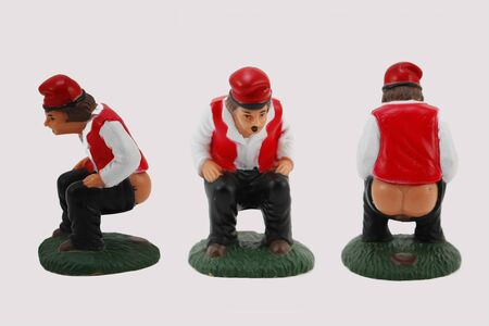 man ass: The caganer, a traditional catalan figurine in Christmas