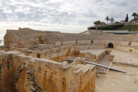 roman amphitheater: Roman amphitheater in the city of Tarragona, Tarraco during roman empire