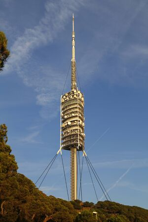 telecoms: Collserola tower, telecoms tower in the city of Barcelona, Spain Editorial