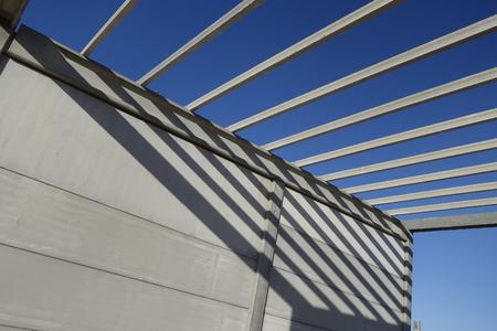 precast: Construction site, with precast concrete structure