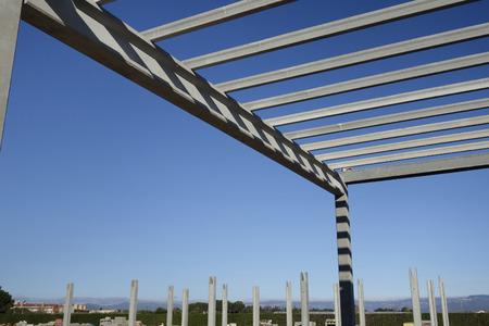 precast: Construction site of a precast concrete building