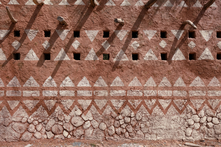 adobe: Adobe wall in a house in Africa
