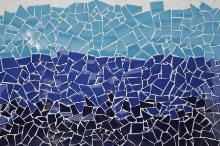 cian: Blue trencadis mosaic, ceramic decoration
