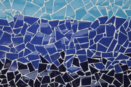 Trencadis blue trencadis mosaic, ceramic decoration stock photo, picture and