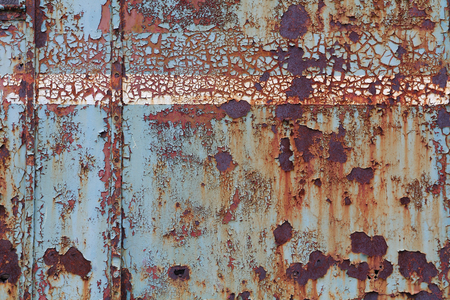 corroded: Old corroded steel surface, with cracked paint Stock Photo
