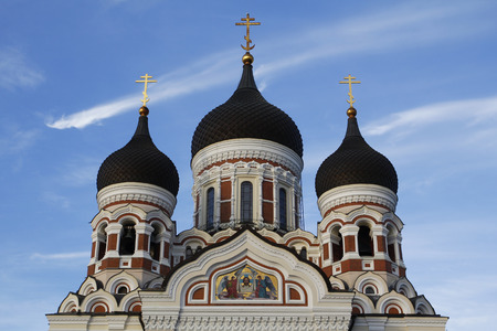 Alexander Nevsky orthodox cathedral in Tallinn, Estonia Stock Photo