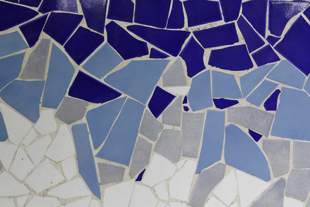 cian: Trencadis mosaic of small ceramic pieces Stock Photo