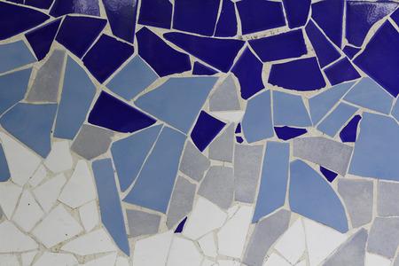 Trencadis mosaic of small ceramic pieces Archivio Fotografico