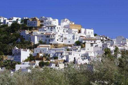 White houses in Arcos de la Frontera, Andalusia, Spain Stock Photo