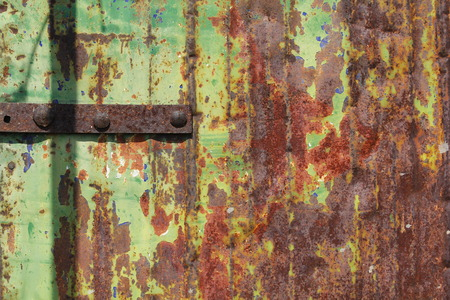 Old corroded steel surface, with cracked paint Stock Photo