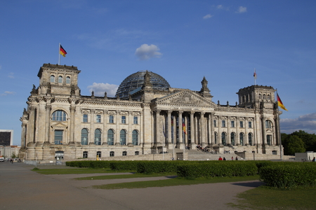 BERLIN, GERMANY - MAY 15, 2017: The German Bundestag, a constitutional and legislative building in Berlin, capital of Germany Éditoriale