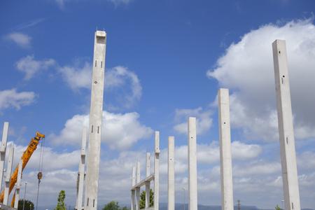 Montage d'une structure en béton sur le chantier Banque d'images