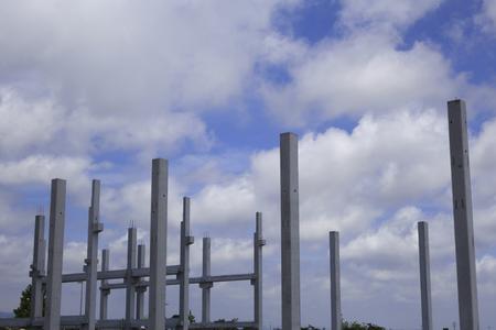 Structure en béton sur le chantier