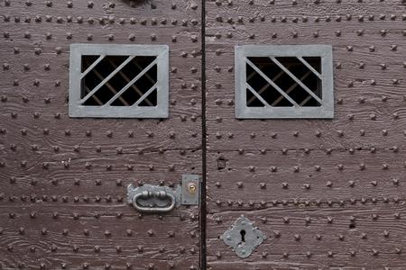 Old rusty metallic texture, from an antique door Banque d'images