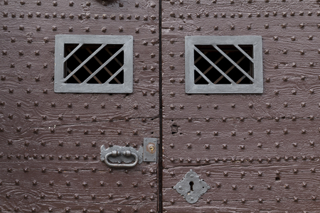 Old texture métallique rouillée, à partir d'une porte antique