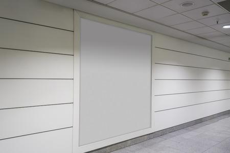 Blank billboard indoor, for advertisement