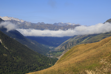 Landscape in Vall daran, a valley in Catalan Pyrenees, Spain