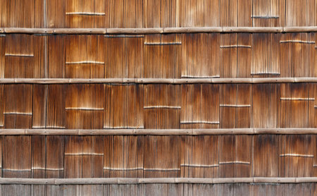 Traditional bamboo japanese wall background