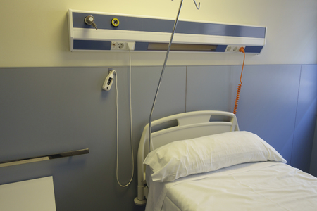 Empty bed in an hospital room