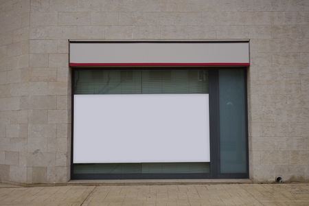 Blank billboard mock up in a bank, for free advertisement