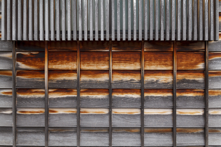 Old wooden texture in a japanese house Banque d'images