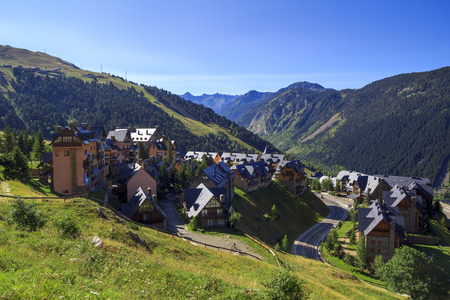 Baqueira village in Vall dAran, at the Pyrenees in Catalonia, Spain