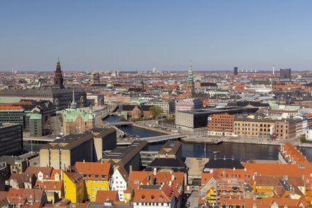 Kopenhagen Stadtansicht von oben Standard-Bild