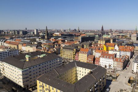 Copenhagen city view from the top