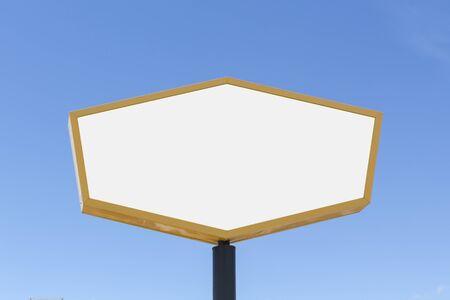 Blank billboard for advertising, against blue sky Stock fotó