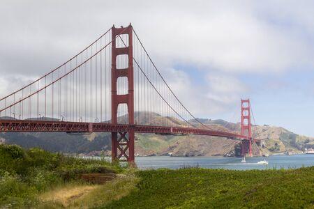 The Golden Gate bridge in San Francisco bay, United States