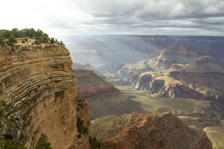 Scenic lookout at the south rim at Grand Canyon, Arizona, United States