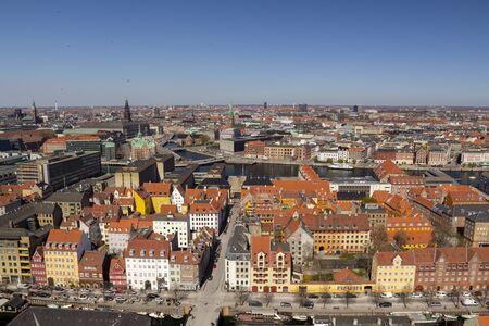 Copenhagen city view from the top 写真素材 - 128782105
