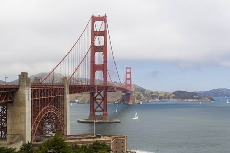 The Golden Gate bridge in San Francisco bay, United States